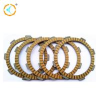 China Yellow Motorcycle Clutch Parts / Rubber Clutch Friction Plate For CG125 wholesale