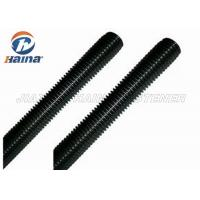 Quality Black Finished All Threaded Bar , Grade 5 Grade 8 Fully Black Threaded Rod for sale