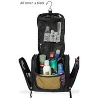 Quality Black Travel Makeup Organizer , Hanging Cosmetic Travel Bag  With Multi Pockets for sale