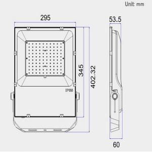 China 5 Years Warranty Wall Mounted 100 Watt LED Outdoor Flood Light 120Lm/W Efficiency wholesale