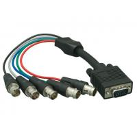 China VGA HD15 Male to 5-BNC RGBHV Female Monitor Cable, Black wholesale