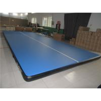 China Double Wall Material Blue Air Tumble Track Mat Indoor Use Smooth Surface wholesale