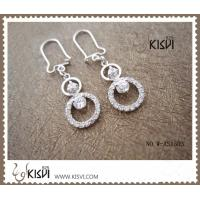 China 2012 Fashion Jewelry 925 Sterling Silver Gemstone Earrings with Zircon W-AS1303 wholesale