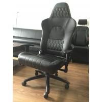 China Modern Black Ergonomic Swivel Office Chair With Wheels / Adjustable Desk Chair wholesale