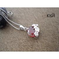 China OEM and ODM available 925 Sterling Silver Gemstone Pendant with Zircon W-VB885 wholesale