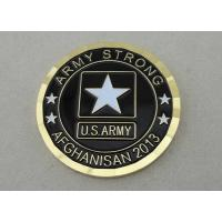 China Army Strong Afghanistan military coins custom By Die Casting, 1.75 Inch For US Army on sale