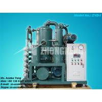 China Series ZYD-I Double-stage Vacuum Insulating Oil Regeneration Purifier wholesale