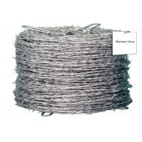 China Galvanized High Tensile Barbed Wire Sharp Q195 4 Strand Barbed Wire Fence wholesale