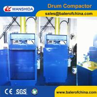 China Wanshida Hydraulic Waste Oil Drum Crusher Compactor For Sale wholesale