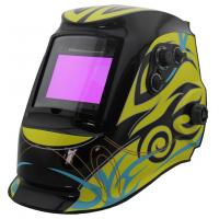 China Solar Powered Auto Darkening Welding Helmet , Auto Tint Welding Helmet CE Approved on sale