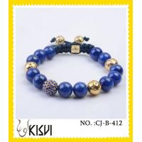 China OEM / ODM custom offer CZ crystal & alloy shiny polish crystal ball bracelet wholesale