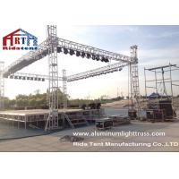 Quality Light Duty Stage Light Truss , Spigot Overhead Square Truss System400 X 60mm Size for sale
