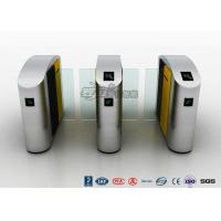 Quality Waist Height RFID Turnstile Security Systems Automatic Flap Barrier Turn Style Door for sale
