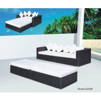 China 4 piece -Wicker Rattan conversation shore beach  sofa bed daybed sunbed-9009 wholesale