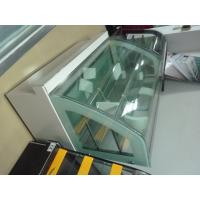 Quality Big Capacity Cake Display Glass Freezer With Arc Shape Curve Glass for sale