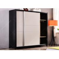 China Hotel Space Saving Wardrobe , Free Standing Wardrobe Stainless Steel Strip Sliding Door wholesale