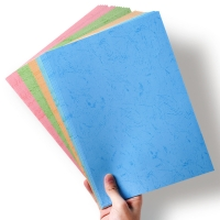 China Flat Texture Leather Grain Specialty Paper Stationary A4 Binding Paper on sale