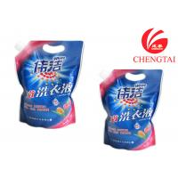 China Hang Hole Stand Up Pouch with Spout for Laundry Detergent Packaging wholesale