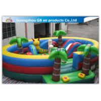 China Waterproof Round Blow Up Jumping Castle Bouncy Inflatable For Kids / Adults wholesale