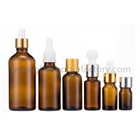 Buy cheap 5ml-100ml Amber Essential Oil Glass Bottles With Caps or Droppers from wholesalers