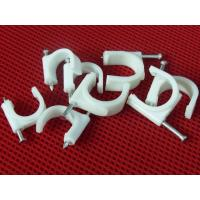 China Wire Fastening  Round Nail Cable Clip PE and Steel Material White / Black wholesale