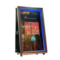 Quality 65 inch infrared touch automatic wedding booth selfie magic mirror for sale