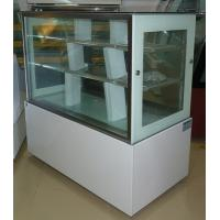 China 1.5 M White Commercial Cake Display Freezer With Marble Base / 3 Layers wholesale