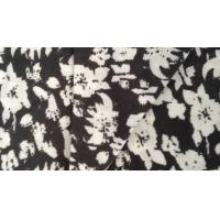 China Cotton Plain Dyed Interlock Double Knit Fabric Garment Textile with Flower Partterned on sale