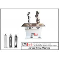China Electronic Control Aerosol Filling Machine , Bag On Valve Filling Machine wholesale