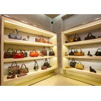 China Modern Simple Looks Handbag Shop Display Shelving With LED Strip Lights Decoration wholesale