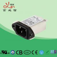 China 250V, 10A Single Phase IEC inlet socket Power entry Filter , Power Line EMI Filter Long Working Life wholesale