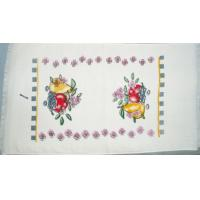 China Velvet Printed kitchen towel(with fringer) wholesale