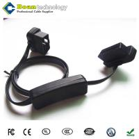 China OBD2 II 16 Pin Ultra Flat Power Switch Male to Female Extension Cable wholesale