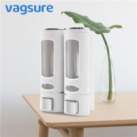 China Double Heads Wall Mounted Liquid Soap Dispenser Waterproof ABS Plastic Material wholesale