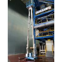 China Dual Mast Hydraulic Lift Ladder Manual Push Around For Shopping Centers wholesale
