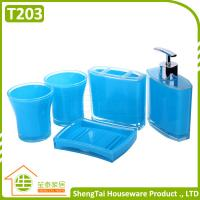 China Modern Design Popular Eco-Friendly Plastic Bath Accessory Set With Cheap Price wholesale