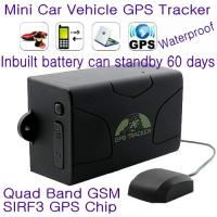 China GPS104 Waterproof Car Truck Vehicle GPS SMS GPRS Tracker Cut-off oil & engine remotely 6000mAh Battery for 60day Standby wholesale