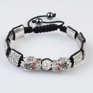 China Unique design Tresor Paris Shamballa Silver color Crystal Bracelets wholesale