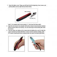 Quality Optical 2.4G Wireless Pen Mouse with Laser Pointer for sale