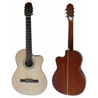 China 39 inch Black ABS 5 Line Bleach Spruce Top Wood Classical Guitar CG3921C-B wholesale