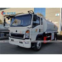 China Howo L3W 160HP 10000L Oil Bowser Truck For Mobile Diesel Refueling wholesale