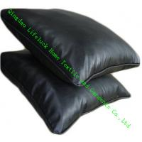 Buy cheap PP Cotton Modern InnersThrow Pillows For Home / Office , Black Leather from wholesalers