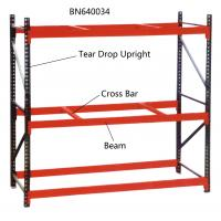 China 10' Tall Teardrop Pallet Rack System Full Welded Upright Frame And Step Beam wholesale