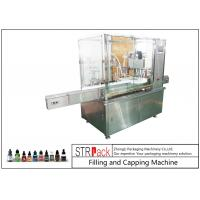China 10ml-100ml E-liquid Bottle Filling And Capping Machine With Piston Pump wholesale