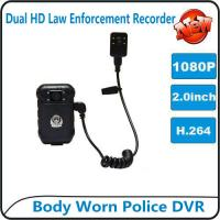 China 1080P Body Worn Police DVR Camera IP56 Waterproof Law Enforcement Audio Video Recorder wholesale