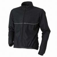 China Bicycle jacket with EN471 reflective piping wholesale