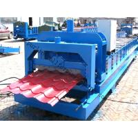 China Color Steel Glazed Tile Roll Forming Machine with PLC Computer Control to Europe wholesale