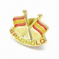 China Fashionable Brooch, Made of Lead-free Zinc-alloy, Customized Designs are Accepted wholesale