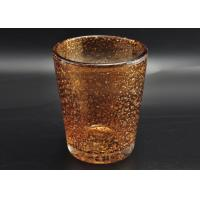China 316ml Hand Made Color Sprayed Glass Votive Candle Holder with Bubble Effect wholesale