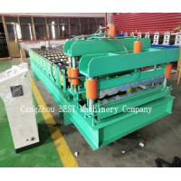 China PLC Control 380V Roof Tile Roll Forming Machine 380v/50HZ PPGI/GI Material wholesale